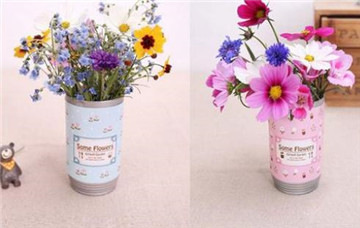 易拉罐花卉